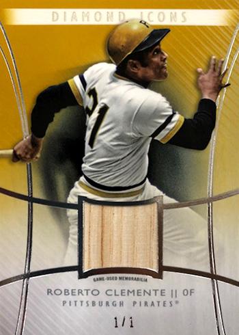 2017 Topps Diamond Icons Baseball Single Player Relic Roberto Clemente Gold