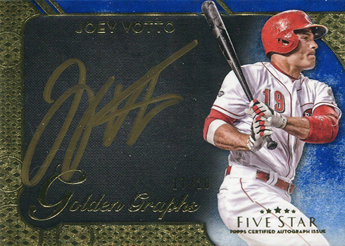 2017 Topps Five Star Baseball Golden Graphs Joey Votto