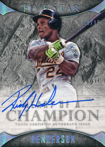 2017 Topps Five Star Baseball Heart of a Champion Autographs Rickey Henderson