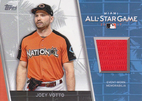 2017 Topps Update Series Baseball All-Star Stitches Joey Votto