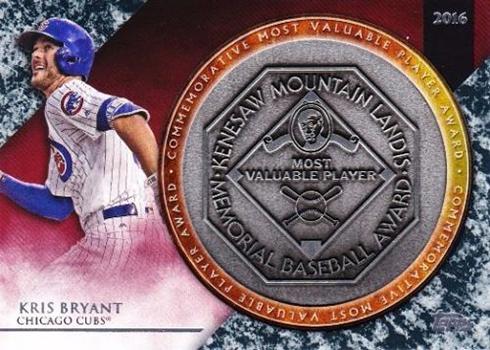2017 Topps Update Series Baseball MVP Award Commemorative Relics Kris Bryant