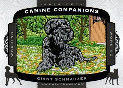 2017 Upper Deck Goodwin Champions Canine Companions Giant Schnauzer