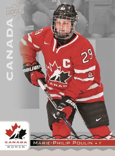 2017 Upper Deck Team Canada Juniors Hockey Marie-Philip Poulin