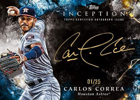 2018 Topps Inception Baseball Silver Signings Gold Ink