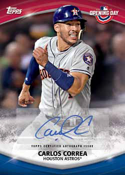 2018 Topps Opening Day Baseball Opening Day Autographs