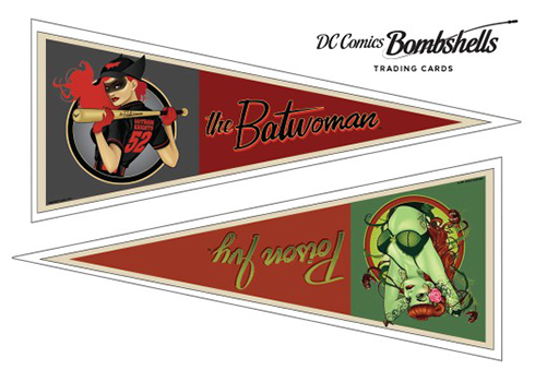2017 Cryptozoic DC Comics Bombshells Pennant Stickers