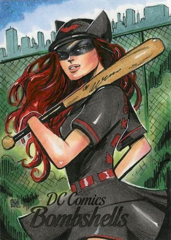 2017 Cryptozoic DC Comics Bombshells Sketch Card Melike Acar