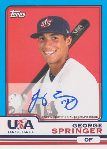 2010 Topps Chrome USA Baseball Autographs George Springer