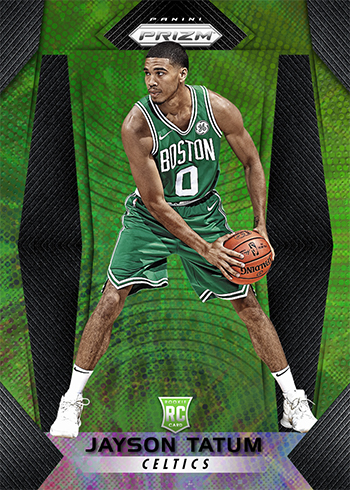 2017-18 Panini Prizm Basketball Fast Break Green Jayson Tatum