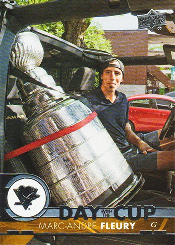 2017-18 Upper Deck Hockey Day with the Cup Marc-Andre Fleury
