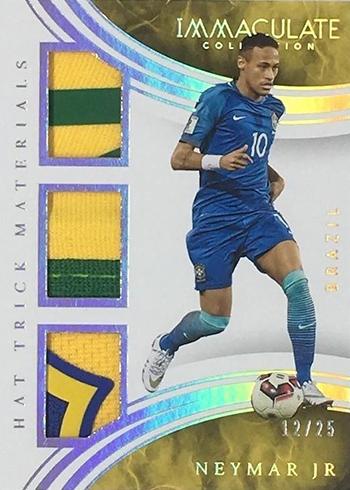 2017 Panini Immaculate Soccer Hat Trick Materials Prime Neymar Jr.