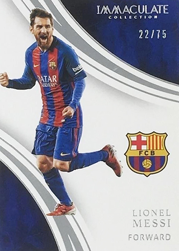 2017 Panini Immaculate Soccer Lionel Messi