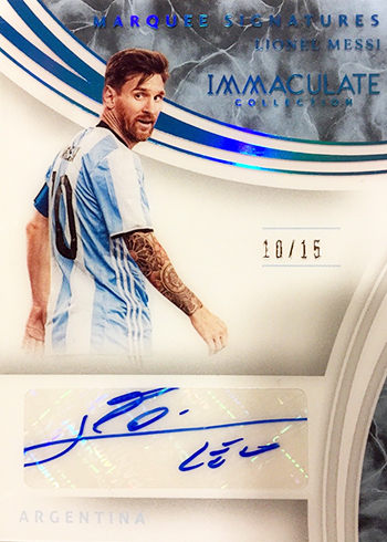 2017 Panini Immaculate Soccer Marquee Signatures Sapphire Lionel Messi