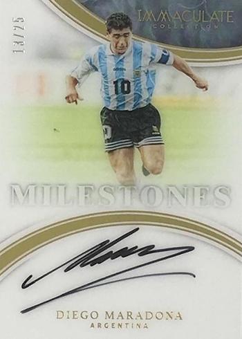 2017 Panini Immaculate Soccer Milestones Diego Maradona Autograph