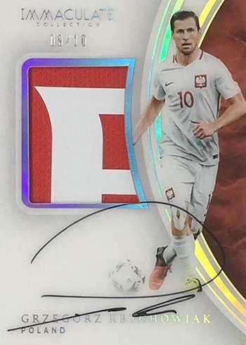2017 Panini Immaculate Soccer Premium Patch Autographs Gold