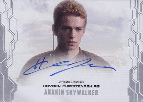 2017 Topps Star Wars Masterwork Hayden Christensen Autograph
