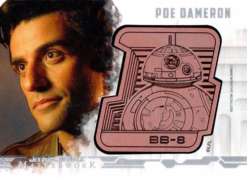 2017 Topps Star Wars Masterwork Droid Medallion Cards Poe Dameron
