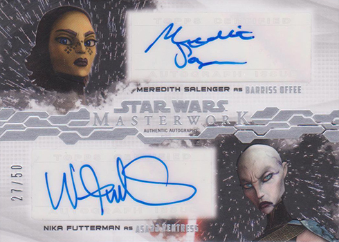2017 Topps Star Wars Masterwork Dual Autographs Meredith Salenger/Nika Futterman