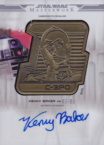 2017 Topps Star Wars Masterwork Droid Medallion Autographs Kenny Baker