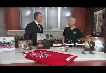 Steve Grad Talking Autographs on WGN 9