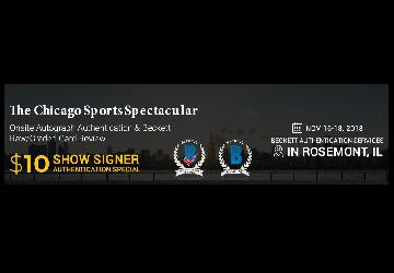 Onsite Autograph Authentication Event - Chicago Sports Spectacular