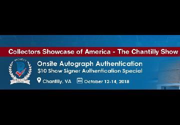 Onsite Autograph Authentication Event - Chantilly Show