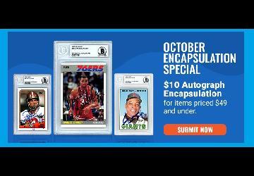 Autograph Encapsulation For $10 | Beckett Authentication Services