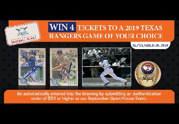 Get Onsite Authentication with Texas Ranger Ticket Giveaway | Beckett Authentication Services