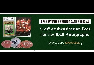 September Special- 1/2 off Football Autograph Authentication