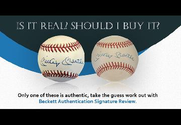 Beckett Authentication Launches New Signature Review Service