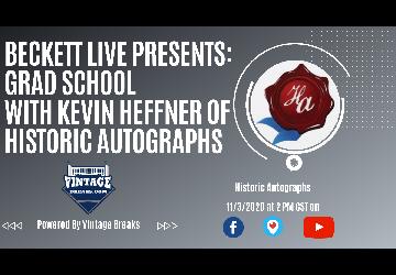 Beckett Live Presents: Grad School with Historic Autographs