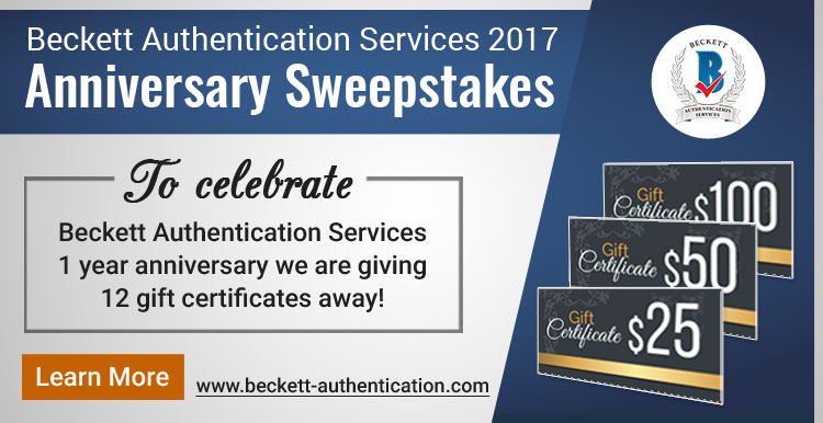 BAS Anniversary Sweepstakes