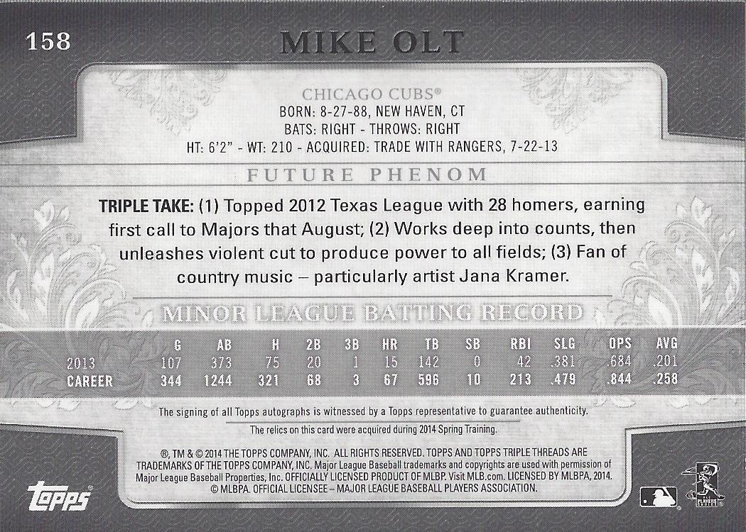 2014-Topps-Triple-Threads-beisbol-tarjeta-Pick miniatura 49