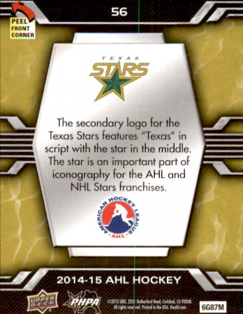 2014-15-Upper-Deck-AHL-Hk-039-s-Logo-Stickers-You-Pick-Buy-10-cards-FREE-SHIP thumbnail 109
