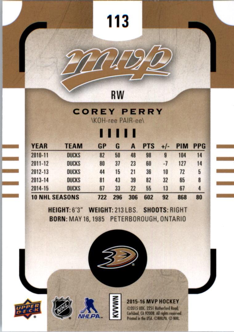 2015-16-Upper-Deck-MVP-Hockey-Card-Pick thumbnail 225