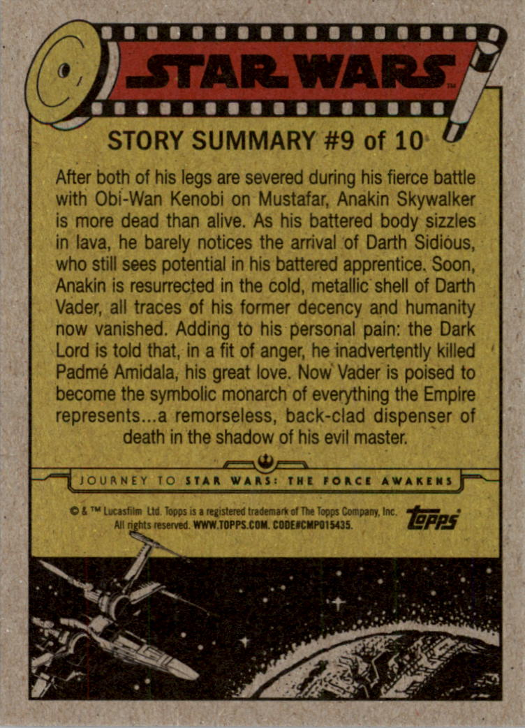 2015-Star-Wars-Journey-to-The-Force-Awakens-Black-Trading-Card-Pick miniature 39