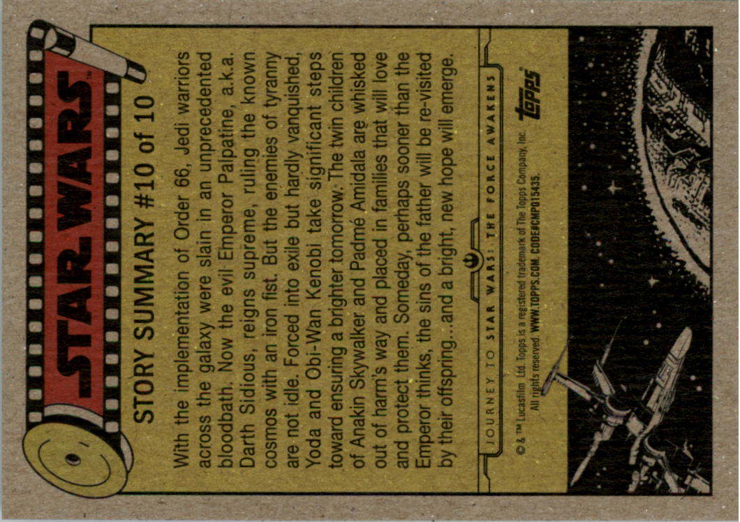 2015-Star-Wars-Journey-to-The-Force-Awakens-Black-Trading-Card-Pick miniature 41