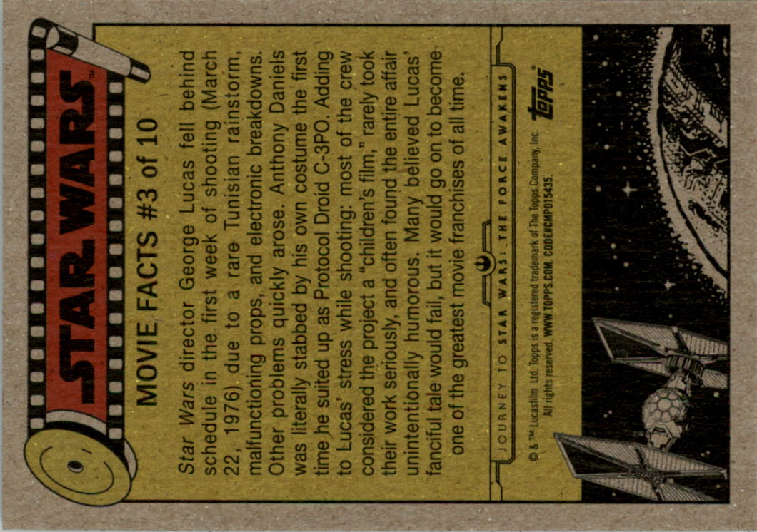 2015-Star-Wars-Journey-to-The-Force-Awakens-Black-Trading-Card-Pick miniature 67