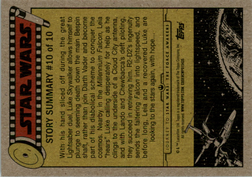 2015-Star-Wars-Journey-to-The-Force-Awakens-Black-Trading-Card-Pick miniature 101
