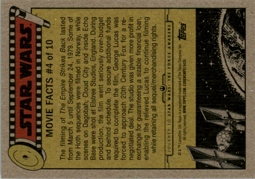 2015-Star-Wars-Journey-to-The-Force-Awakens-Black-Trading-Card-Pick miniature 109