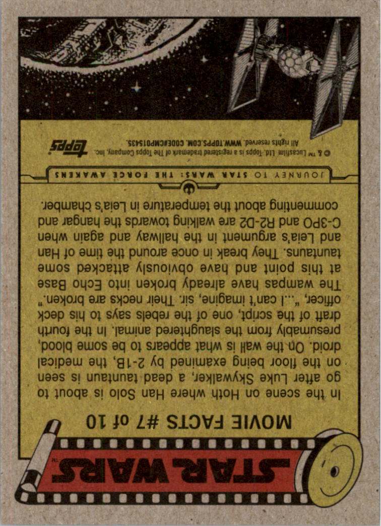 2015-Star-Wars-Journey-to-The-Force-Awakens-Black-Trading-Card-Pick miniature 115