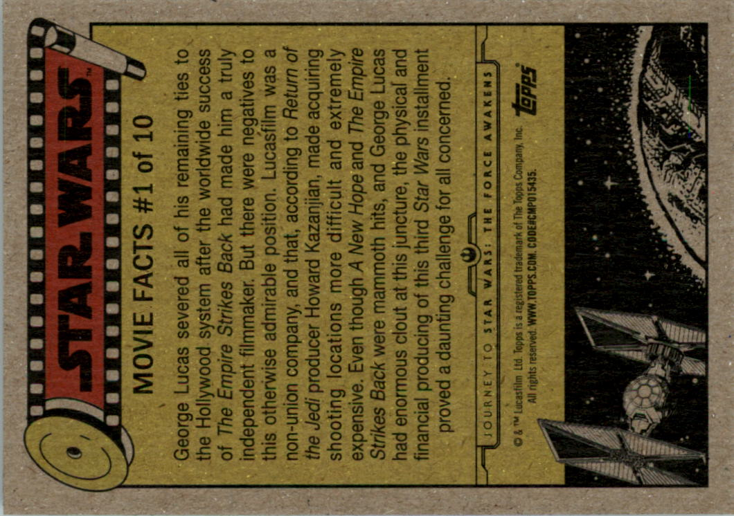 2015-Star-Wars-Journey-to-The-Force-Awakens-Black-Trading-Card-Pick miniature 143