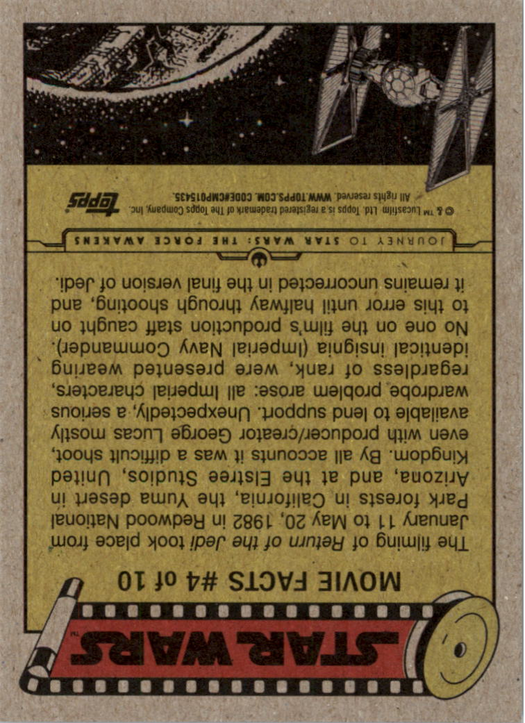 2015-Star-Wars-Journey-to-The-Force-Awakens-Black-Trading-Card-Pick miniature 149