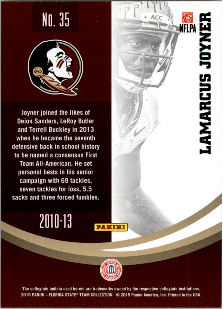 Details about 2015 Panini Florida State Trading Card Pick