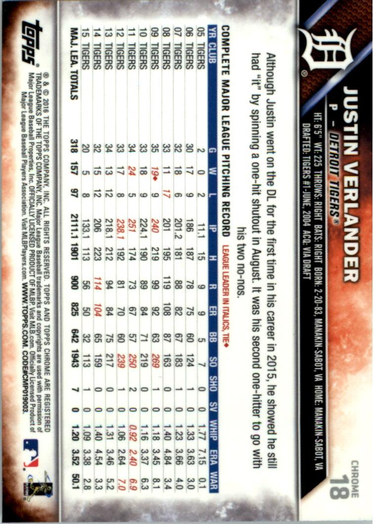 2016-Tarjeta-de-beisbol-Topps-Chrome-Rosa-refractores-Pick miniatura 15