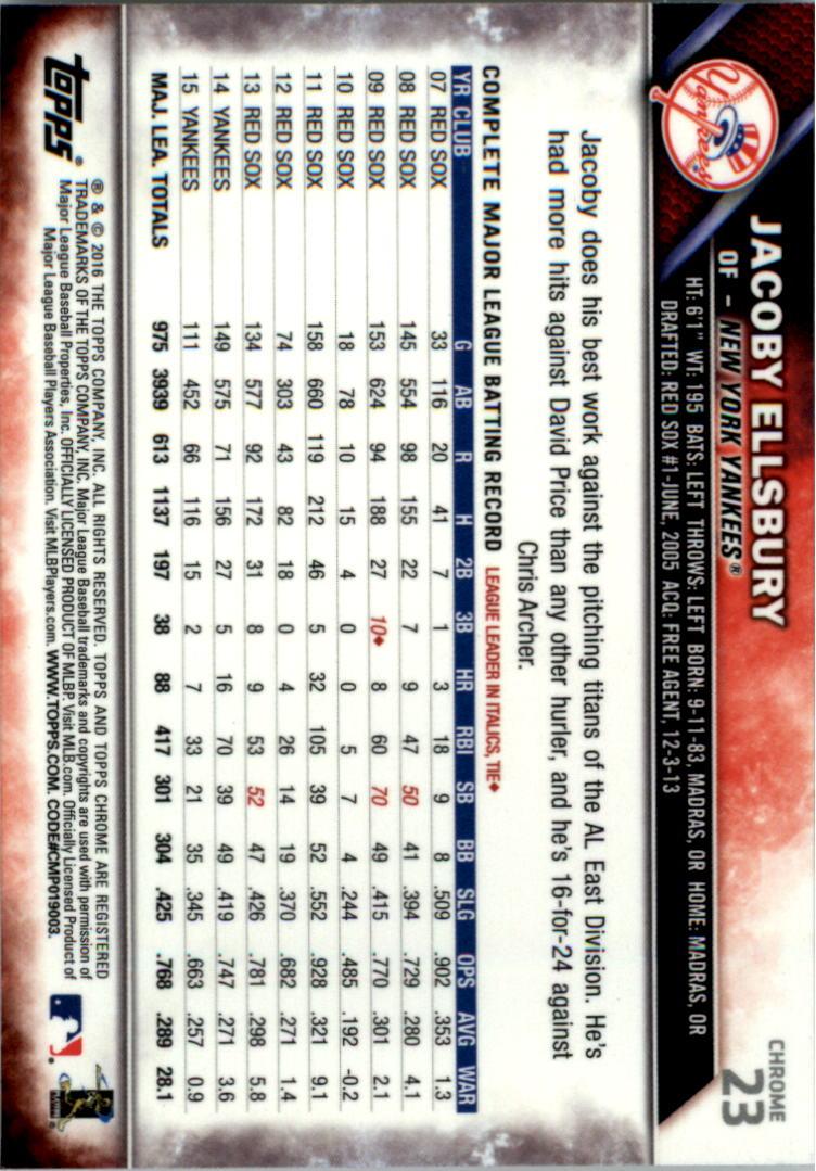 2016-Tarjeta-de-beisbol-Topps-Chrome-Rosa-refractores-Pick miniatura 21