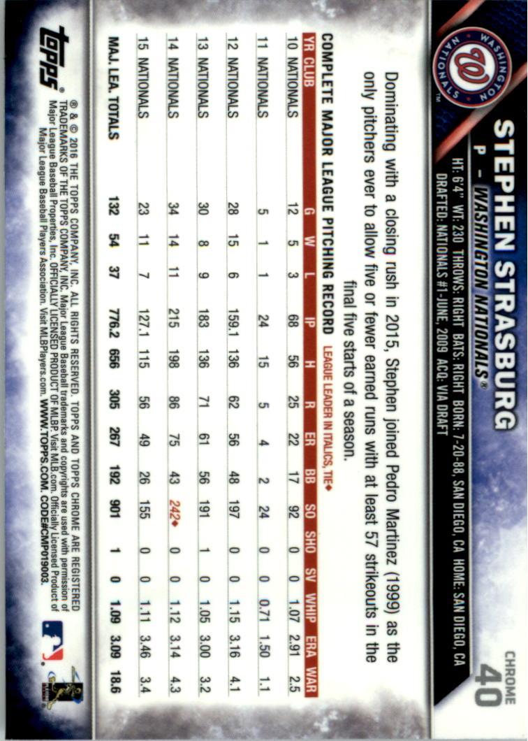 2016-Tarjeta-de-beisbol-Topps-Chrome-Rosa-refractores-Pick miniatura 31