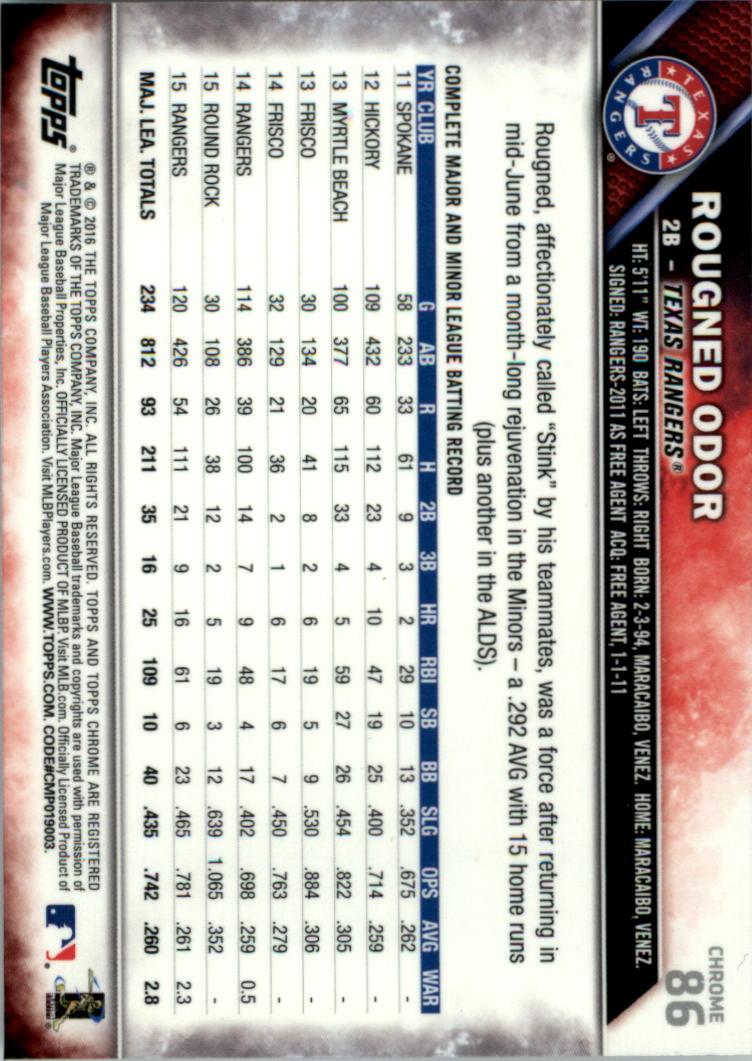 2016-Tarjeta-de-beisbol-Topps-Chrome-Rosa-refractores-Pick miniatura 67