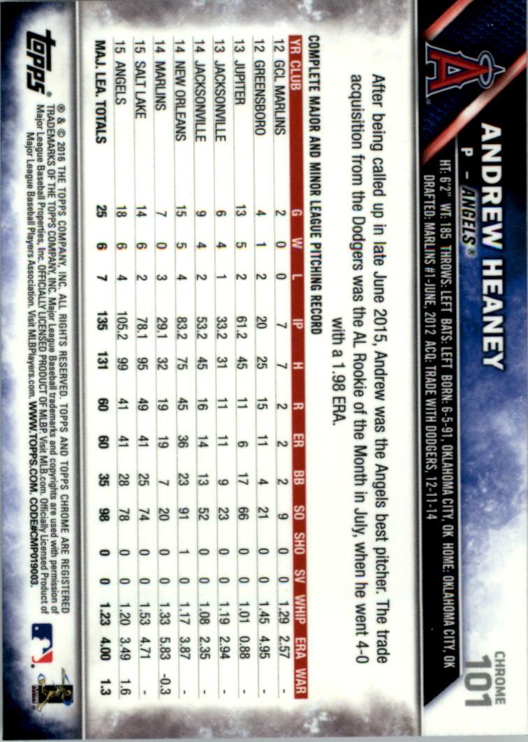 2016-Tarjeta-de-beisbol-Topps-Chrome-Rosa-refractores-Pick miniatura 83