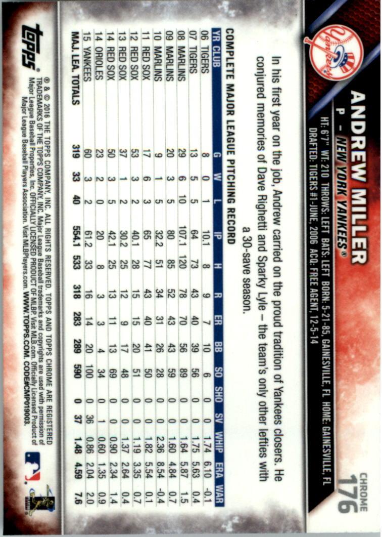 2016-Tarjeta-de-beisbol-Topps-Chrome-Rosa-refractores-Pick miniatura 137
